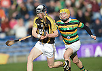 Pearse Lillis of Ballyea scores a goal despite opposition player Gavin Moylan during the Munster Club hurling final against Glen Rovers at Thurles. Photograph by John Kelly