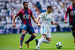 Lucas Vazquez Iglesias of Real Madrid (R) fights for the ball with Ivan Lopez Alvarez, Ivi, of Levante UD (L)  during the La Liga match between Real Madrid and Levante UD at the Estadio Santiago Bernabeu on 09 September 2017 in Madrid, Spain. Photo by Diego Gonzalez / Power Sport Images