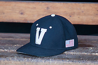 Vanderbilt Commodores hat on June 19, 2015 at TD Ameritrade Park in Omaha, Nebraska. (Andrew Woolley/Four Seam Images)