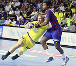 Velux EHF Champions League (day 3),Spain, Barcelona FC Barcelona Intersport beat 36-24 IK Savehof at Palau Blaugrana. Picture show Emil Berggren