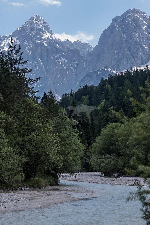 Soca rivier, Julische Alpen - Slovenië