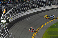 12-13 February, 2016, Daytona Beach, Florida, USA<br /> Denny Hamlin, FedEx Express Toyota Camry races to the finish line to win the Sprint Unlimited.<br /> ©2016, F. Peirce Williams