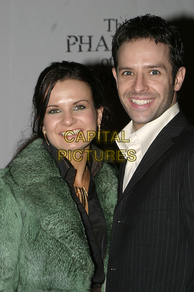 "LILIA & DARREN (STRICTLY COME DANCING).""The Phantom of the Opera"" World Premiere Party,.Grand Hall Olympia, London, December 6th 2004..half length green coat.Ref: AH.www.capitalpictures.com.sales@capitalpictures.com.©Capital Pictures."