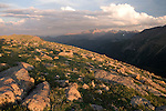 alpine, landscape, tundra, summer, evening, Trail Ridge, Rocky Mountain National Park, Colorado, USA