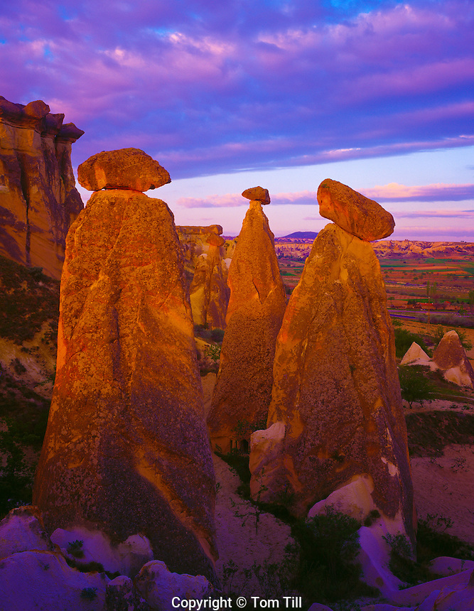 The Fairy Chimneys Goreme National Park, Turkey Cappadocia Region Volcanic deposits near Urgup 45 H IC MAY