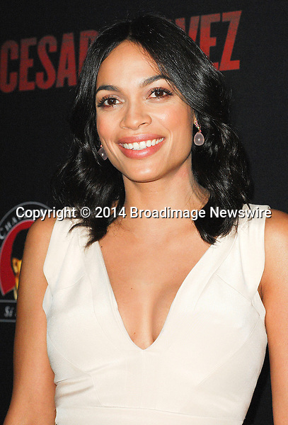 Pictured: Rosario Dawson<br /> Mandatory Credit &copy; Adhemar Sburlati/Broadimage<br /> Film Premiere of Cesar Chavez<br /> <br /> 3/20/14, Hollywood, California, United States of America<br /> <br /> Broadimage Newswire<br /> Los Angeles 1+  (310) 301-1027<br /> New York      1+  (646) 827-9134<br /> sales@broadimage.com<br /> http://www.broadimage.com