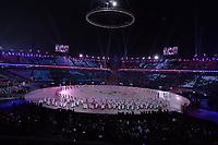 OLYMPIC GAMES: PYEONGCHANG: 09-02-2018, PyeongChang Olympic Stadium, Olympic Games, Opening Ceremony, Team Korea with unified flag, ©photo Martin de Jong
