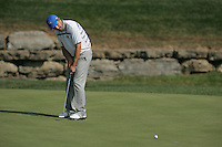 Padraig Harrington putts on the 16th hole in the opening foursomes at the 37th Ryder Cup at Valhalla Golf Club, Louisville, Kentucky, USA - 19th September 2008 (Photo by Manus O'Reilly/GOLFFILE)