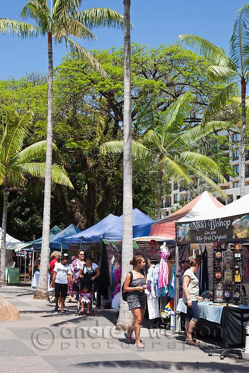 The Esplanade Markets, held every weekend beside the Lagoon.  Cairns, Queensland, Australia