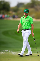 Justin Thomas (USA) on the 9th during the 3rd round of the Waste Management Phoenix Open, TPC Scottsdale, Scottsdale, Arisona, USA. 02/02/2019.<br /> Picture Fran Caffrey / Golffile.ie<br /> <br /> All photo usage must carry mandatory copyright credit (© Golffile | Fran Caffrey)