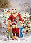 Interlitho, Patricia, CHRISTMAS SANTA, SNOWMAN, nostalgic, paintings, santa, 2 kids, house(KL5651,#X#) Weihnachten, nostalgisch, Navidad, nostálgico, illustrations, pinturas