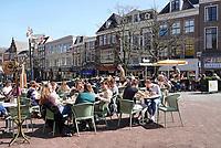 Nederland - Leeuwarden - april 2018. Horeca bij de Kelders.    Foto Berlinda van Dam / Hollandse Hoogte
