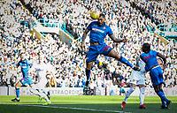 Bolton Wanderers' Josh Magennis heads at goal<br /> <br /> Photographer Andrew Kearns/CameraSport<br /> <br /> The EFL Sky Bet Championship - Leeds United v Bolton Wanderers - Saturday 23rd February 2019 - Elland Road - Leeds<br /> <br /> World Copyright © 2019 CameraSport. All rights reserved. 43 Linden Ave. Countesthorpe. Leicester. England. LE8 5PG - Tel: +44 (0) 116 277 4147 - admin@camerasport.com - www.camerasport.com