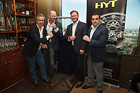 Xavier Casals, Vincent Perriard, Greg Simonian, Seth Semilof attend Haute Living and Westime Present HYT Novelties from Baselworld