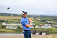 Rob Brazill (Naas) on the 9th tee during Matchplay Round 1 of the South of Ireland Amateur Open Championship at LaHinch Golf Club on Friday 22nd July 2016.<br /> Picture:  Golffile | Thos Caffrey<br /> <br /> All photos usage must carry mandatory copyright credit   (© Golffile | Thos Caffrey)
