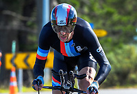Peter Alder (Counties Manukau Cycling). Time trials on Day One of the 2018 NZ Age Group Road Cycling Championships in Carterton, New Zealand on 20 April 2018. Photo: Dave Lintott / lintottphoto.co.nz