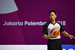 Umpire, <br /> AUGUST 17, 2018 - Basketball : Women's Qualification round match between Japan 73-105 China at Gelora Bung Karno Basket Hall A during the 2018 Jakarta Palembang Asian Games in Jakarta, Indonesia. (Photo by MATSUO.K/AFLO SPORT)