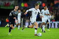 George Byers of Swansea City in action during the Sky Bet Championship match between Swansea City and Barnsley at the Liberty Stadium in Swansea, Wales, UK. Sunday 29 December 2019
