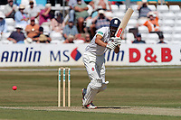 Alastair Cook off Essex hits 4 runs during Essex CCC vs Somerset CCC, Specsavers County Championship Division 1 Cricket at The Cloudfm County Ground on 25th June 2018