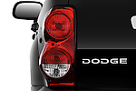 Tail light close up detail view of a 2009 Dodge Durango Hybrid