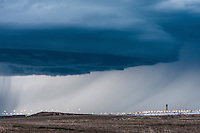 Supercell thunderstorm above Denver, CO Intl. Airport