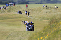 Padraig Harrington (IRL) plays his 2nd shot on the 14th hole during Thursday's Round 1 of the Dubai Duty Free Irish Open 2019, held at Lahinch Golf Club, Lahinch, Ireland. 4th July 2019.<br /> Picture: Eoin Clarke | Golffile<br /> <br /> <br /> All photos usage must carry mandatory copyright credit (© Golffile | Eoin Clarke)