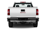 Straight rear view of 2018 GMC Sierra-2500HD 2WD-Regular-Cab-Long-Box 2 Door Pick-up Rear View  stock images