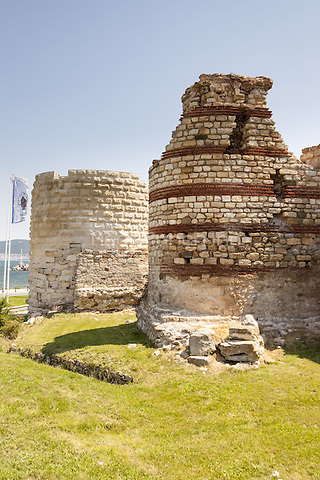 Remains of ancient fortress walls, Nessebar, Bulgaria  June 2015.<br /> CAP/MEL<br /> &copy;MEL/Capital Pictures /MediaPunch ***NORTH AND SOUTH AMERICA ONLY***
