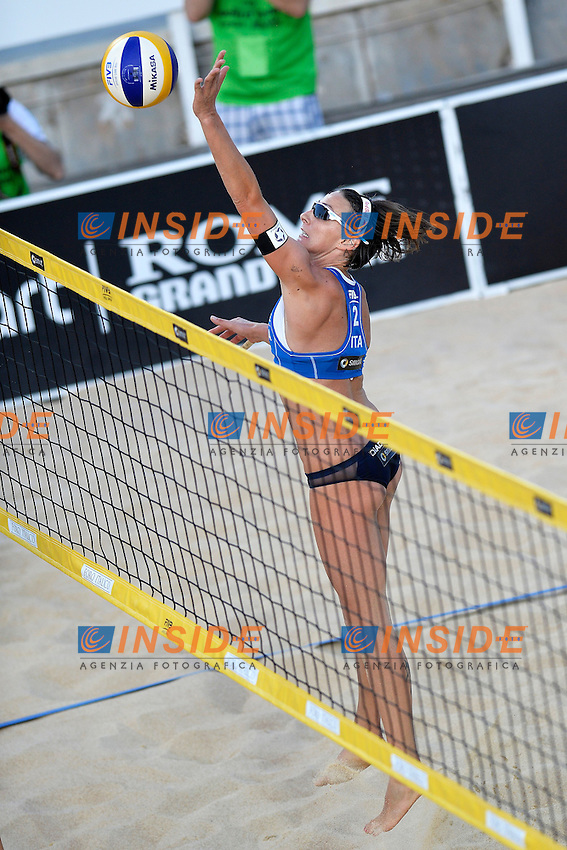 Greta Cicolari Italia <br /> Roma 21/6/2013 Foro Italico <br /> FIVB Beach Volleyball World Tour <br /> Men's smart Grand Slam Rome 2013<br /> Foto Andrea Staccioli Insidefoto