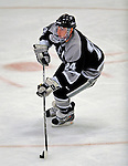 7 February 2009: Providence College Friars' defenseman Matt Taormina, a Senior from Washington Township, MI, leads a rush against the University of Vermont Catamounts during the second game of a weekend series at Gutterson Fieldhouse in Burlington, Vermont. The Catamounts swept the 2-game series notching 4-1 wins in both games. Mandatory Photo Credit: Ed Wolfstein Photo