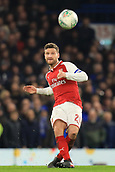 10th January 2018, Stamford Bridge, London, England; Carabao Cup football, semi final, 1st leg, Chelsea versus Arsenal; Shkodran Mustafi of Arsenal