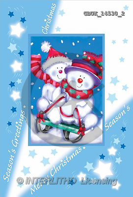 Stephen, CHRISTMAS SANTA, SNOWMAN, paintings(GBUK14530/2,#X#) Weihnachtsmänner, Schneemänner, Weihnachen, Papá Noel, muñecos de nieve, Navidad, illustrations, pinturas