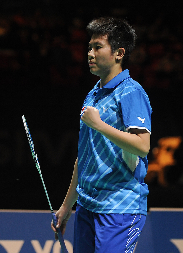 Liliyana NATSIR [INA] in action today during their victory over Nan ZHANG [5] [CHN] and Yunlei ZHAO [CHN]  in their Mixed Doubles Final match. Tontowi AHMAD [2] [INA] and Liliyana NATSIR [INA] bt Nan ZHANG [5] [CHN] and Yunlei ZHAO [CHN]  21-13 21-17..BWF -  2013 Yonex All England Badminton Championships Super Series Premier - The National Indoor Arena - Birmingham - England - Sunday 10th March 2013..© CameraSport - 43 Linden Ave. Countesthorpe. Leicester. England. LE8 5PG - Tel: +44 (0) 116 277 4147 - admin@camerasport.com - www.camerasport.com
