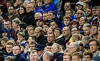 Burnley fans watch on during the second half<br /> <br /> Photographer Alex Dodd/CameraSport<br /> <br /> UEFA Europa League - Third Qualifying Round 2nd Leg - Burnley v Istanbul Basaksehir - Thursday 16th August 2018 - Turf Moor - Burnley<br />  <br /> World Copyright © 2018 CameraSport. All rights reserved. 43 Linden Ave. Countesthorpe. Leicester. England. LE8 5PG - Tel: +44 (0) 116 277 4147 - admin@camerasport.com - www.camerasport.com