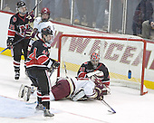 Joe Vitale, Brett Motherwell, Steve Birnstill, Brock Bradford, Adam Geragosian - The Boston College Eagles defeated Northeastern University Huskies 5-3 on Saturday, November 19, 2005, at Kelley Rink in Conte Forum at Chestnut Hill, MA.