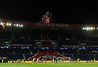 11th March 2020, Parc des Princes, Paris, France; Champions League - Round of 16 Second Leg - Paris St Germain versus Borussia Dortmund; General view inside the stadium as fireworks are seen outside