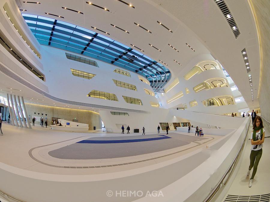 Vienna, Austria. The new WU Campus (University of Economics).<br /> LC (Learning Center) by Zaha Hadid Architects, Hamburg.