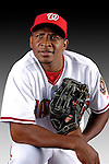 25 February 2007: Washington Nationals outfielder Abraham Nunez poses for his Photo Day portrait at Space Coast Stadium in Viera, Florida.<br /> <br /> Mandatory Photo Credit: Ed Wolfstein Photo<br /> <br /> Note: This image is available in a RAW (NEF) File Format - contact Photographer.