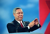 The former Chairman of the Joint Chiefs of Staff Colin L. Powell, United States Army (retired) speaks at the 1996 Republican National Convention at the San Diego Convention Center in San Diego, California on August 12, 1996.  <br /> Credit: Ron Sachs / CNP