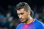 Jose Paulo Bezerra Maciel Junior, Paulinho, of FC Barcelona reacts after winning the La Liga match between FC Barcelona vs RCD Espanyol at the Camp Nou on 09 September 2017 in Barcelona, Spain. Photo by Vicens Gimenez / Power Sport Images