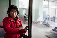Puman, 12, a victim of Nepal earthquake  at a Trauma center in Kathmandu, Nepal. May 05, 2015