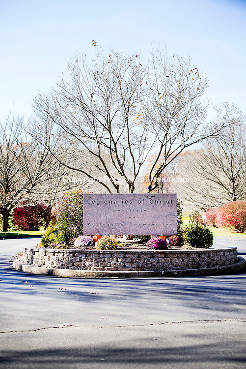 Cheshire, CT- 12 November 2016-111216CM05- The entrance to the Legionaries of Christ  is shown in Cheshire on Saturday.    Christopher Massa Republican-American