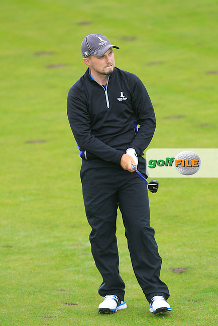 Keith Egan (Carton House) on the 4th fairway during Matchplay Semi Final of the South of Ireland Amateur Open Championship at LaHinch Golf Club on Sunday 26th July 2015.<br /> Picture:  Golffile | TJ Caffrey