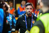 5th November 2019; Mestalla, Valencia, Spain; UEFA Champions League Football,Valencia versus Lille;  J Costa of Valencia CF arrives at Mestalla stadium - Editorial Use