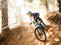 Picture by Alex Broadway/SWpix.com - 09/09/17 - Cycling - UCI 2017 Mountain Bike World Championships - Downhill - Cairns, Australia - George Kerr of Great Britain in action during a practice session.