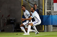 Demarai Gray of England is congratulated after scoring the opening goal during England Under-21 vs Poland Under-21, UEFA European Under-21 Championship Football at The Kolporter Arena on 22nd June 2017