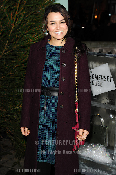 Samantha Barks arriving for the opening of the Somerset House Ice Rink 2013, London 14/11/2013 Picture by: Steve Vas / Featureflas