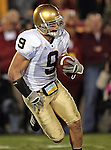 Los Angeles, CA 11/25/06 - Notre Dame's Tom Zbikowski ran back five kickoff returns for 107 yards with the longest return being 28 yards.<br />