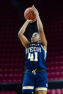 College Park, MD - NOV 29, 2017: Georgia Tech Yellow Jackets guard Kierra Fletcher (41) connects on an open jump shot during ACC/Big Ten Challenge game between Gerogia Tech and the No. 7 ranked Maryland Terrapins. Maryland defeated The Yellow Jackets 67-54 at the XFINITY Center in College Park, MD.  (Photo by Phil Peters/Media Images International)