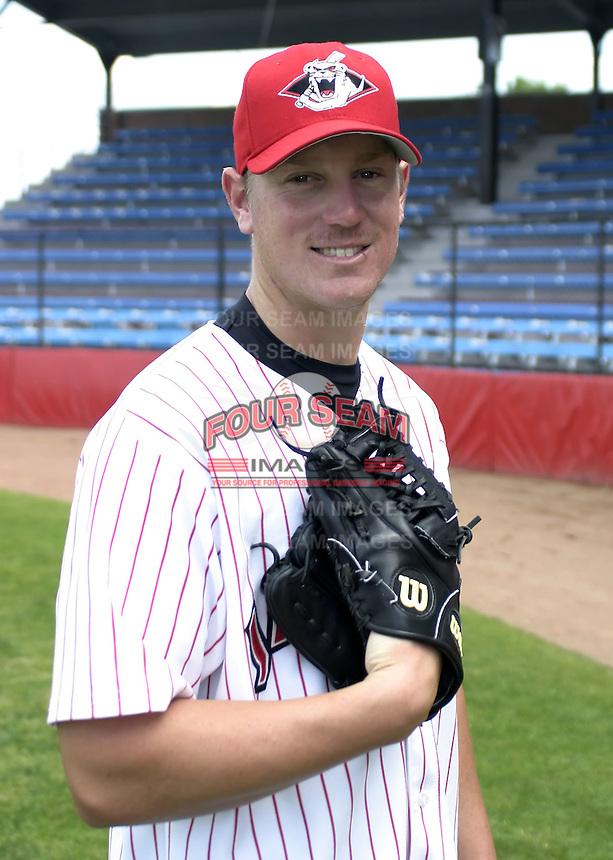 July 3, 2004:  Pitcher Matt Yourkin of the Jamestown Jammers, Single-A NY-Penn League affiliate of the Florida Marlins, during a game at Russell Diethrick Park in Jamestown, NY.  Photo by:  Mike Janes/Four Seam Images